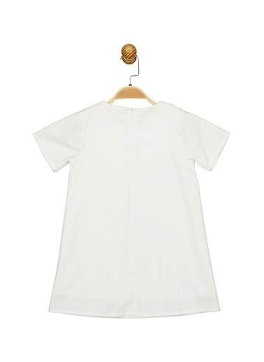 Minnie Mouse Lisanslı Çocuk Elbise 17472 Beyaz